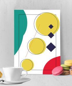 plakat z geometrycznym motywem