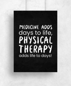 Plakat typograficzny - Physical therapy