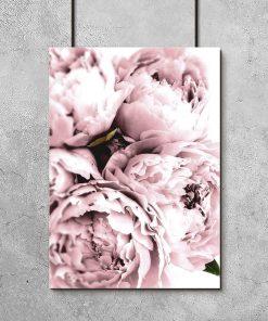 dekoracja kuchni plakatem w ramie z kwiatami