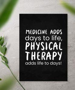 Plakat z typografią - Physical therapy