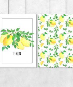 Plakat dyptyk na prezent - Lemon
