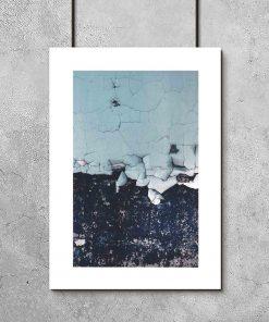 Plakat z niebieską farbą olejną