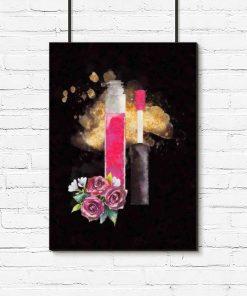 Plakat z błyszczykiem do salonu kosmetycznego