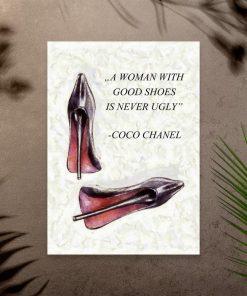 Plakat z maksymą Coco Chanel