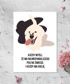 Plakat z psem do sypialni