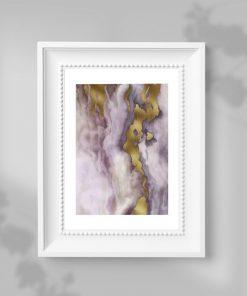 Plakat z marmurkową abstrakcją do sypialni