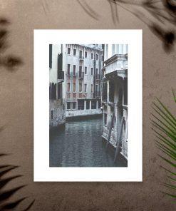 Plakat z budynkami do sypialni