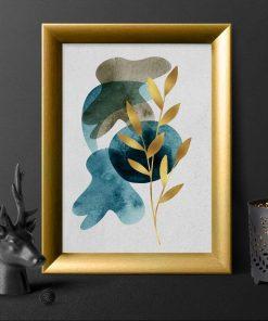 Plakat z motywem rośliny do sypialni