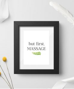 Plakat typograficzny - But first, massage
