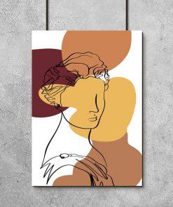 Plakat z motywem bogini do salonu
