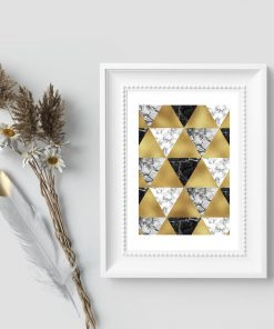 Plakat do biura - Wzór z trójkątów