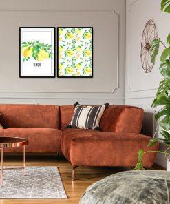 Plakat dyptyk do salonu - Lemon