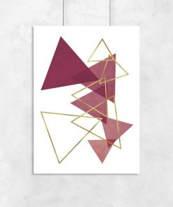 Plakat do salonu - Rozsypane trójkąty