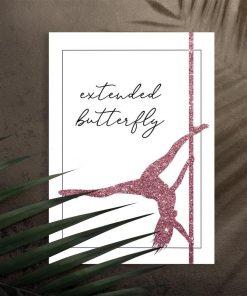 Plakat z typografią - Extended butterfly