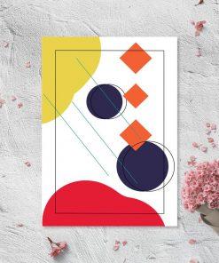 Bajecznie kolorowy plakat z abstrakcja