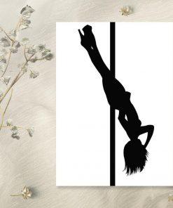 Plakat pole dance - Akrobacja na rurce