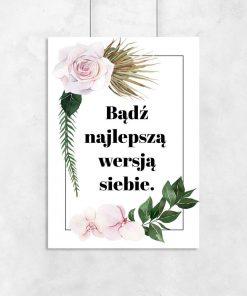 Plakat: bądź najlepszą wersją siebie