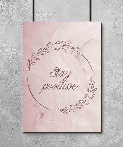 Plakat z typografią - Stay positive
