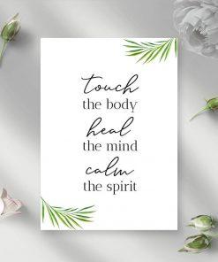 Plakat typograficzny - Touch the body