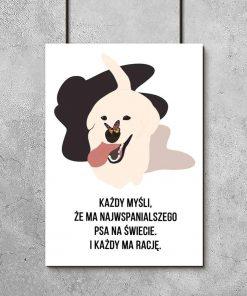Plakat z psem do salonu