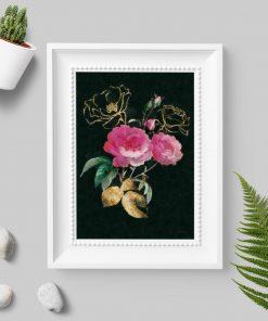 Dekoracja z różowymi różyczkami