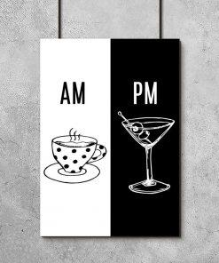 Plakat z kawą i drinkiem do kawiarni