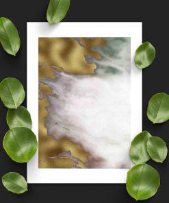 Plakat z abstrakcją z marmuru do salonu