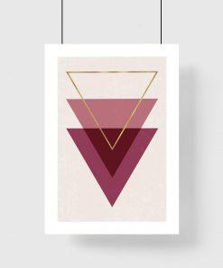 Plakat - Trójkąty do salonu