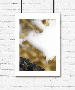 Plakat - Czarno-biała abstrakcja do biura