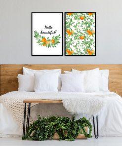 Podwójny plakat do sypialni - Hello beautiful