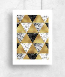 Plakat do salonu - Wzór z trójkątów