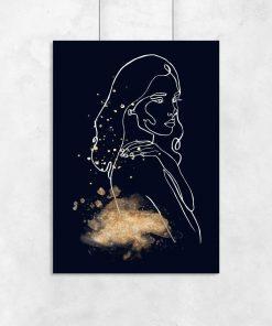 Plakat z nagą dziewczyną