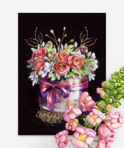 Plakat z bukietem róż do salonu