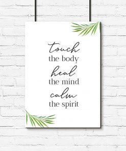 Plakat z typografią - Touch the body