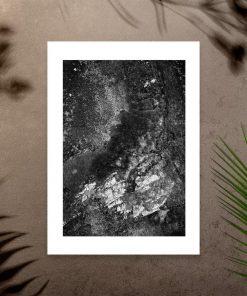 Plakat z abstrakcyjnym krajobrazem do sypialni