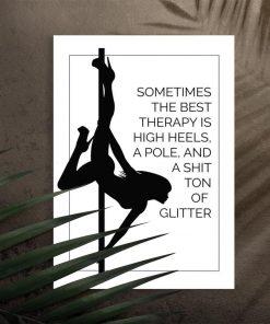 Plakat pole dance - Najlepsza terapia