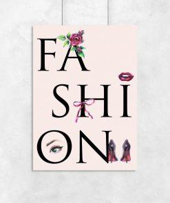 Plakat w ramie z motywem typografii