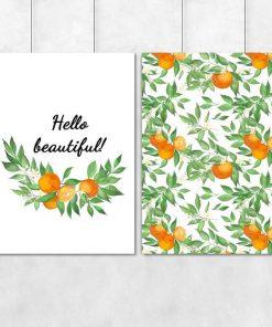 Podwójny plakat na prezent - Hello beautiful