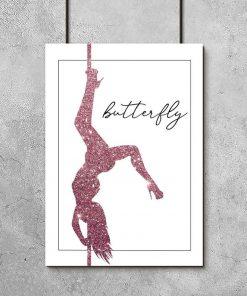 Plakat z typografią - Butterfly
