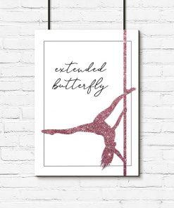 Plakat typograficzny - Extended butterfly