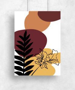 Plakat do oprawienia z roślinami