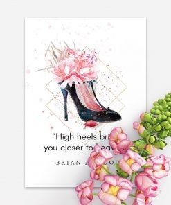 Plakat typograficzny do pokoju - High heels