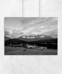 Plakat z jeziorem Geroldsee do pokoju