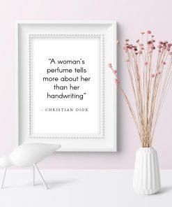 Plakat dla kobiet - Cytat Christian'a Diora