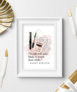 Plakat do salonu - Cytat Harry'ego Winstona