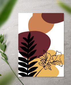 Motywy roślinne oraz abstrakcja na plakacie