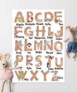 Plakat do pokoju dziecięcego - Alfabet