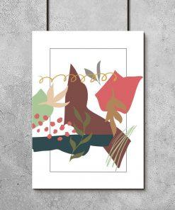 Stonowany plakat z motywem abstrakcji