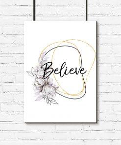 Plakat do salonu - Believe