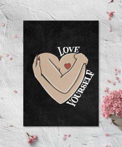 Plakat do salonu - Love yourself